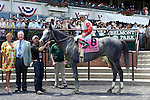 June 7, 2014: Norumbega, Joel Rosario up, wins the 126th running of the Grade II Brooklyn Invitational, one and a half miles, at Belmont Park , Elmont, NY Trainer is Shug McGaughey; owner is Stuart S. Janney III. ©Joan Fairman Kanes/ESW/CSM