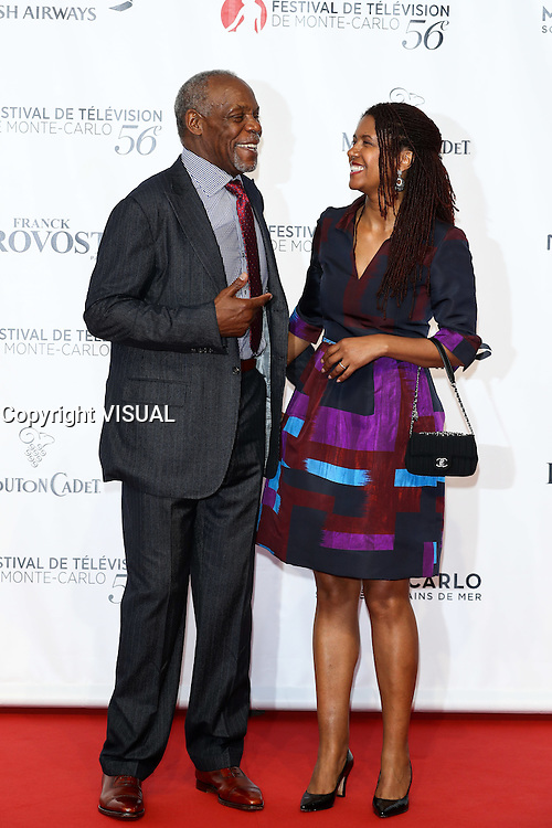 56th Monte-Carlo Television Festival opening red carpet. Danny Glover and wife.