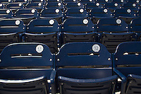 Seats at 2013 Men's College World Series on June 17, 2013 at TD Ameritrade Park in Omaha, Nebraska. (Andrew Woolley/Four Seam Images)