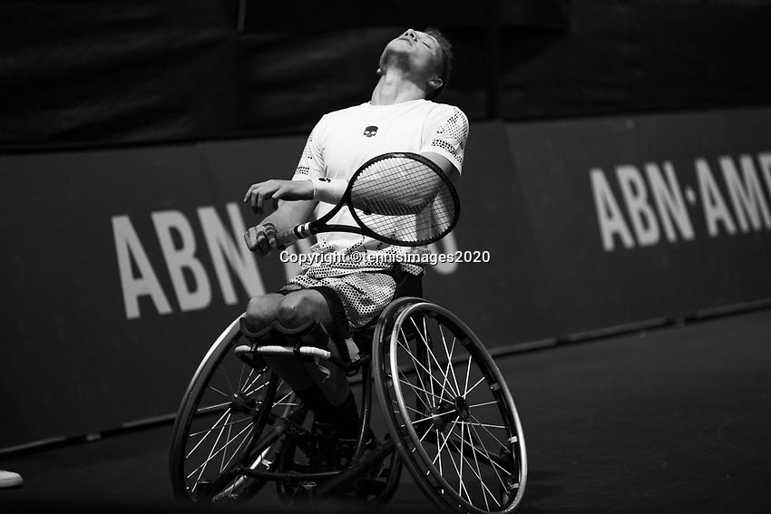Rotterdam, The Netherlands, 11 Februari 2020, ABNAMRO World Tennis Tournament, Ahoy, <br /> Wheelchair tennis: Ruben Spaargaren (NED).<br /> Photo: www.tennisimages.com