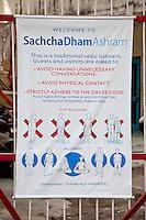 India, Rishikesh.  Ashram Rules,  Regulations, and Dress Code.