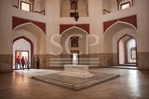 Delhi, India. Tomb of Emperor Humayun. Interior.