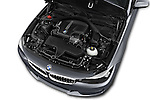 Car Stock 2016 BMW 3 Series 328i 5 Door Hatchback Engine  high angle detail view