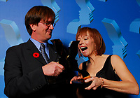 "21st Gemini Awards, Richmond, BC, November 4, 2006, Mark McKinney and Martha Burns Gemini winners for Best Performance by an Actor and Actress in a Continuing Leading Dramatic Role for ""Slings and Arrows, Season 2""(CNW Group/Academy of Canadian Cinema & Television)"