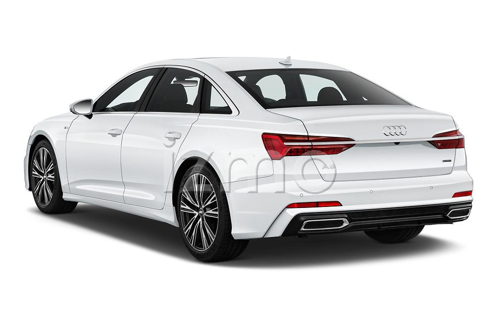 Rear three quarter view of a 2019 Audi A6 Premium Plus 4 Door Sedan angular rear