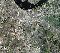 aerial photograph downtown Louisville, Kentucky