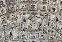 Arch of Titus detail, Via Sacra, Rome, Italy. 82 AD