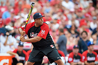 New York Yankees great Bernie Williams during the All-Star Legends and Celebrity Softball Game on July 12, 2015 at Great American Ball Park in Cincinnati, Ohio.  (Mike Janes/Four Seam Images)