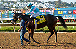 DEL MAR, CA  SEPTEMBER 6: #4 Pinehurst, ridden by Mike Smith, return to the connections after winning the Runhappy Del Mar Futurity (Grade 1) on September 6, 2021 at Del Mar Thoroughbred Club in Del Mar, CA. (Photo by Casey Phillips/Eclipse Sportswire/CSM)