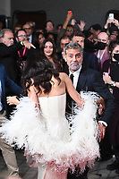 LONDON, ENGLAND - OCTOBER 10: Amal Clooney and George Clooney attending 'The Tender Bar' Premiere - the 65th BFI London Film Festival at The Royal Festival Hall on October 10, 2021, London, England.<br /> CAP/MAR<br /> ©MAR/Capital Pictures