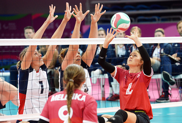 Jennifer Oakes, Lima 2019 - Sitting Volleyball // Volleyball assis.<br /> Canada competes in women's Sitting Volleyball // Canada participe au volleyball assis féminin. 26/08/2019.