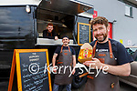 Chad Byrne with back l-r: Ross Farrell and Jordan O'Donoghue from the Hungry Donkey Killarney who was nominated as one of the top 15 food trucks in the country