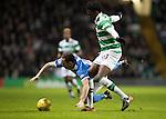 Celtic v St Johnstone…25.01.17     SPFL    Celtic Park<br />Chris Kane is fouled by Dedryck Boyata<br />Picture by Graeme Hart.<br />Copyright Perthshire Picture Agency<br />Tel: 01738 623350  Mobile: 07990 594431