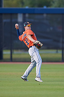 Houston Astros Chas McCormick (92) during practice before a Minor League Spring Training Intrasquad game on March 28, 2018 at FITTEAM Ballpark of the Palm Beaches in West Palm Beach, Florida.  (Mike Janes/Four Seam Images)