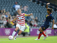 Glasgow, Scotland - Saturday, July 28, 2012: Christie Rampone of the USA Women's soccer team during a 3-0 win over Colombia in the first round of the Olympic football tournament at Hamden Park.