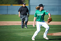Jared Billen (5) of Hillcrest High School in Riverside, California during the Baseball Factory All-America Pre-Season Tournament, powered by Under Armour, on January 13, 2018 at Sloan Park Complex in Mesa, Arizona.  (Art Foxall/Four Seam Images)