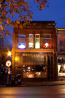 Sebastian's Restaurant on First Street, downtown Snohomish, Snohomish County, Washington, USA
