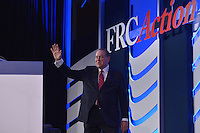 Washington, DC - September 25, 2015: Former Arkansas governor Mike Huckabee walks on stage to address attendees of the Values Voter Summit at the Omni Shoreham Hotel in the District of Columbia, September 25, 2015.  (Photo by Don Baxter/Media Images International)