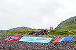 Fans wait for the riders during Stage 2 of the 2018 Artic Race of Norway, running 195km from Tana to Kjøllefjord, Norway. 17th August 2018. <br /> <br /> Picture: ASO/Gautier Demouveaux | Cyclefile<br /> All photos usage must carry mandatory copyright credit (© Cyclefile | ASO/Gautier Demouveaux)