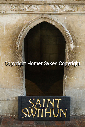 The site of behind the High Altar St Saint Swithun's tomb Winchester Cathedral Hampshire. England 2009.