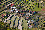 The stunning Ifugao stone-walled rice terraces surround the village of Batad in North Luzon, Philippines.