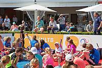 Netherlands, Rosmalen , June 10, 2015, Tennis, Topshelf Open, Autotron, Kidsday, Kids press conference with Indy de Vroome and Lesley Kerkhove (NED)<br /> Photo: Tennisimages/Henk Koster