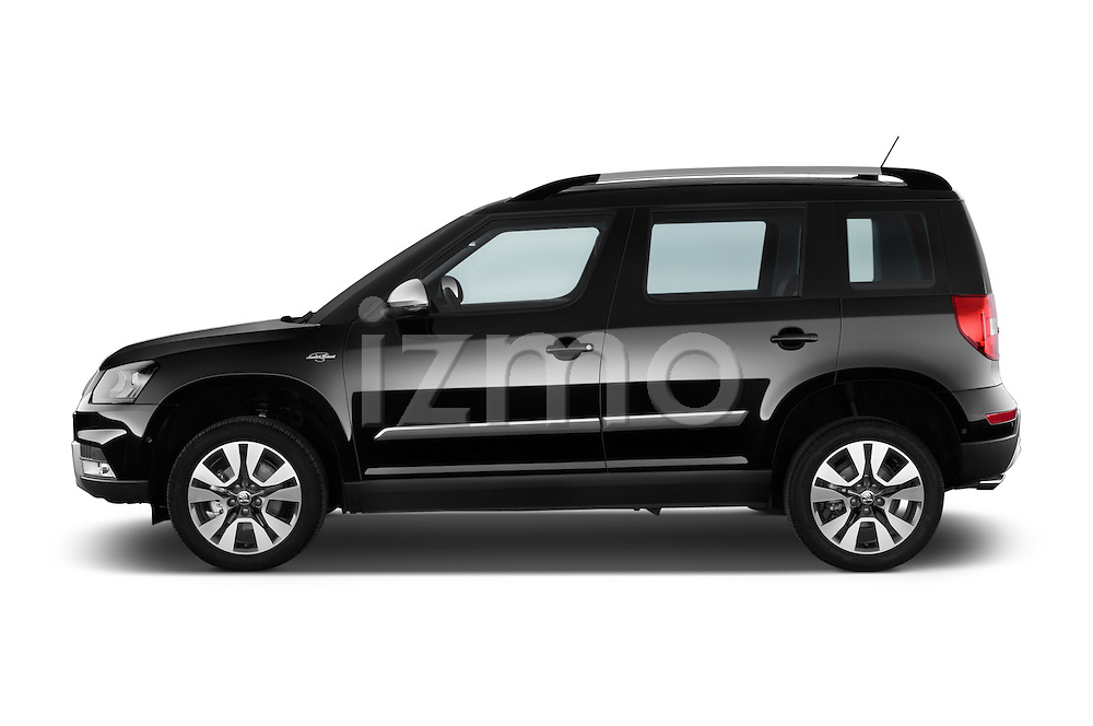 Car Driver side profile view of a 2014 Skoda YETI LAURIN & KLEMENT OUTDOOR 5 Door SUV 4WD Side View