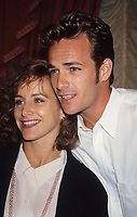 Gabrielle Carteris Luke Perry 1992 Photo by Adam Scull-PHOTOlink.net