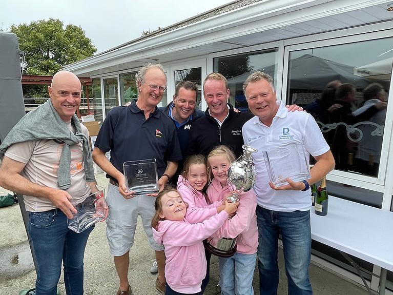 Dragon prizewinners at Kinsale Yacht Club