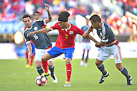 Action photo during the match Costa Rica vs Paraguay, Corresponding Group -A- America Cup Centenary 2016, at Citrus Bowl Stadium<br /> <br /> Foto de accion durante el partido Estados Unidos vs Colombia, Correspondiante al Grupo -A-  de la Copa America Centenario USA 2016 en el Estadio Citrus Bowl, en la foto: (i-d), Christian Bolanos de Costa Rica y Miguel Samudio de Paraguay<br /> <br /> <br /> <br /> 04/06/2016/MEXSPORT/Isaac Ortiz.