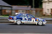 Round 9 of the 1991 British Touring Car Championship. #3 Andy Rouse (GBR). Kaliber ICS Team Toyota. Toyota Carina.