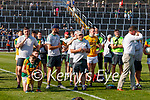 Paul Geaney, Kerry, with his son Páidí after the Munster GAA Football Senior Championship Final match between Kerry and Cork at Fitzgerald Stadium in Killarney on Sunday.