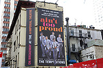 """Theatre Marquee unveiling for """"Ain't Too Proud - The Life and Times of The Temptations"""" at the Imperial Theatre on February 8, 2019 in New York City."""