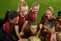 San Jose, CA - Sunday November 12, 2017: Kelley O'Hara and the U.S. Women's National team starting eleven during an International friendly match between the Women's National teams of the United States (USA) and Canada (CAN) at Avaya Stadium.