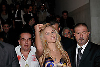 Venice , Italy- Sept 8 2009 - Noemie Laetizia, the call girl of Silvio Berlusconi attend the Mostra. (french caption below)<br /> <br /> <br />  66ème Festival du Cinéma de Venise (Mostra), 8ème jour (08/09/2009)<br /> Noémie Laetizia, la call girl de Silvio Berlusconi, quittant le lido entourée d'une armée de garde du corps !