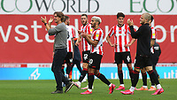 Brentford Manager, Thomas Frank, leads the applause after the match as the players walk towards the dressing room during Brentford vs Preston North End, Sky Bet EFL Championship Football at Griffin Park on 15th July 2020