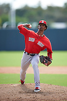Boston Red Sox pitcher Gerson Bautista (87) during an Instructional League game against the Minnesota Twins on September 24, 2016 at CenturyLink Sports Complex in Fort Myers, Florida.  (Mike Janes/Four Seam Images)