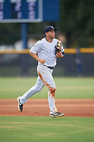 GCL Yankees East Raymundo Moreno (5) during a Gulf Coast League game against the GCL Phillies East on July 31, 2019 at Yankees Minor League Complex in Tampa, Florida.  GCL Phillies East defeated the GCL Yankees East 4-3 in the second game of a doubleheader.  (Mike Janes/Four Seam Images)