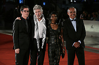 VENICE, ITALY - September 06: (L-R) Sean Evans, Roger Waters, a guest and Alberto Barbera attend Roger Waters Us + Them Red Carpet during the 76th Venice Film Festival  on September 06 , 2019 in Venice, Italy. (Photo by Mark Cape/Insidefoto)<br /> Venezia 06/09/2019