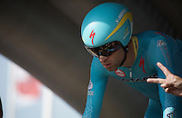 2014 Tour-winner Vincenzo Nibali (ITA/Astana) is 2 seconds away from kicking off his 2015 campaign<br /> <br /> stage 1 prologue: Utrecht (13.8km)<br /> Tour de France 2015