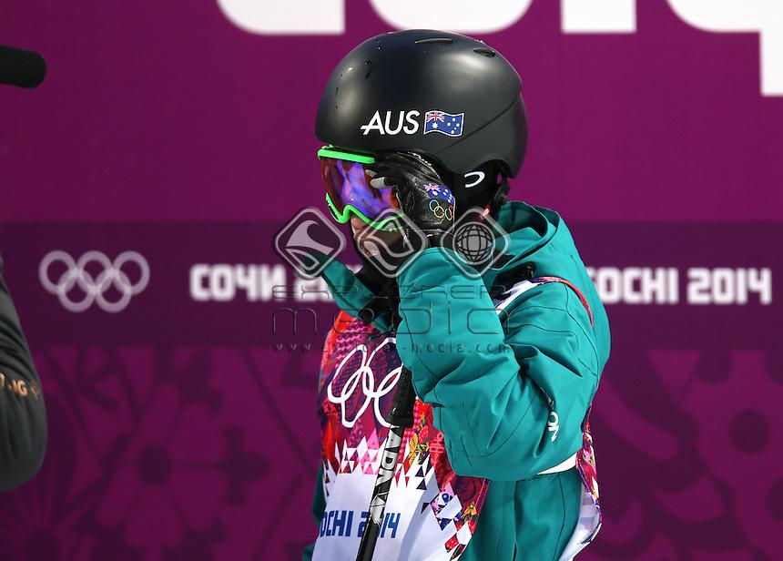 Davina Williams (AUS)<br /> Freestyle Skiing - Halfpipe finals<br /> Rosa Khutor  X-treme Park, Rosa Khutor<br /> 2014 Sochi Winter Olympics - Russia<br /> 20.02.2014 Sochi, Krasnodar Krai, Russia. <br /> © Sport the library / GEPA pictures/ Daniel Goetzhaber