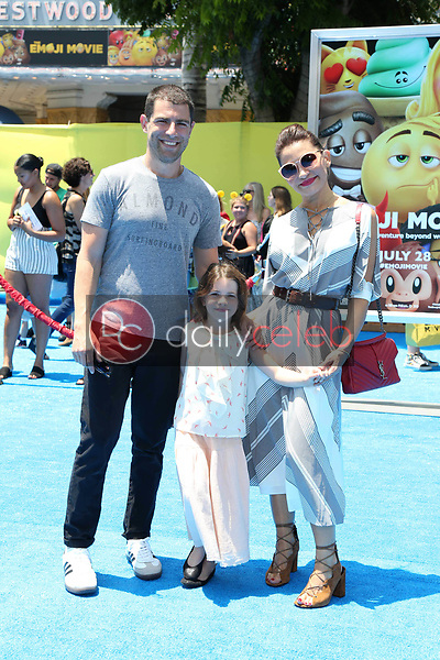 """Lilly Greenfield, Max Greenfield, Tess Sanchez<br /> at the premiere of """"The Emoji Movie,"""" Village Theater, Westwood, CA 07-23-17<br /> David Edwards/DailyCeleb.com 818-249-4998"""
