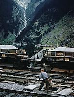 Men working on railway tracks