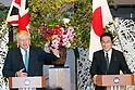 Japanese Foreign Minister Fumio Kishida meets UK Foreign Secretary Boris Johnson