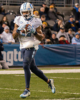 North Carolina wide receiver Anthony Ratliff-Williams scores on a 3-yard touchdown catch. The North Carolina Tarheels defeated the Pitt Panthers football team 34-31 at Heinz Field, Pittsburgh, Pennsylvania on November 9, 2017.
