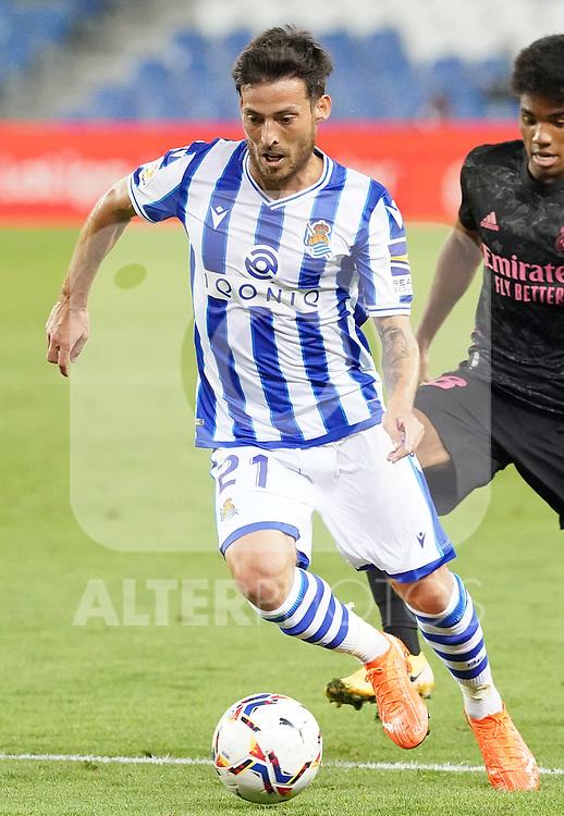 Real Sociedad's David Jimenez Silva during La Liga match. September 20, 2020. (ALTERPHOTOS/Acero)
