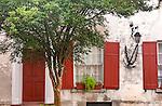 Red shutters in Charleston, SC