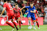 Chelsea Forward Alvaro Morata (R) in action during the International Champions Cup match between Chelsea FC and FC Bayern Munich at National Stadium on July 25, 2017 in Singapore. Photo by Marcio Rodrigo Machado / Power Sport Images