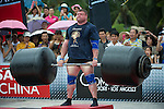 HAINAN ISLAND, CHINA - AUGUST 24:  Zydrunas Savickas of Lithuania competes at the Deadlift for Max event during the World's Strongest Man competition at Yalong Bay Cultural Square on August 24, 2013 in Hainan Island, China.  Photo by Victor Fraile