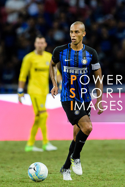 FC Internazionale Defender Joao Miranda in action during the International Champions Cup 2017 match between FC Internazionale and Chelsea FC on July 29, 2017 in Singapore. Photo by Weixiang Lim / Power Sport Images